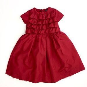 Baby Gap Red Ruffle Holiday Party Dress 5T